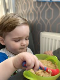 Grayson eating