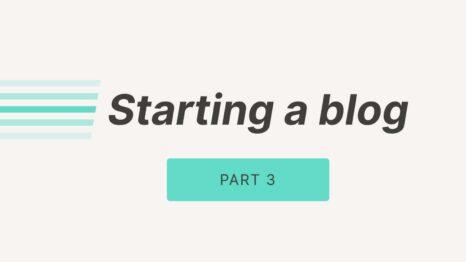 Starting a blog - website speeds